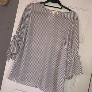 Striped Blouse w/ tie detail - NWT